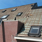 Dak bekleden met nieuwe dakpannen te Dalerpeel