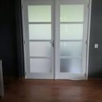 Dubbele deur gerealiseerd in de woonkamer